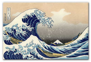 The Great Wave Off Kanagawa Print - Canvas Art Rocks - 1
