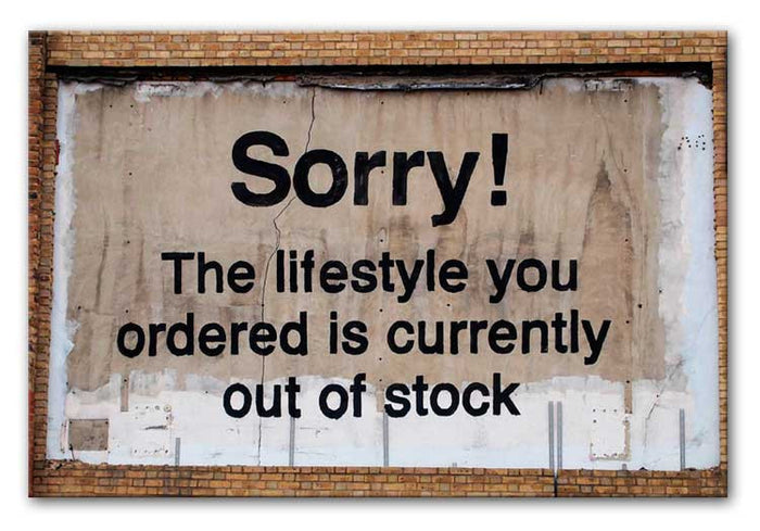 Banksy The Lifestyle You Ordered Canvas Print or Poster