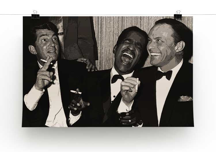 The Rat Pack Rocking With Laughter Print - Canvas Art Rocks - 4