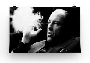 Tony Soprano Cigar Smoke Print - Canvas Art Rocks - 3