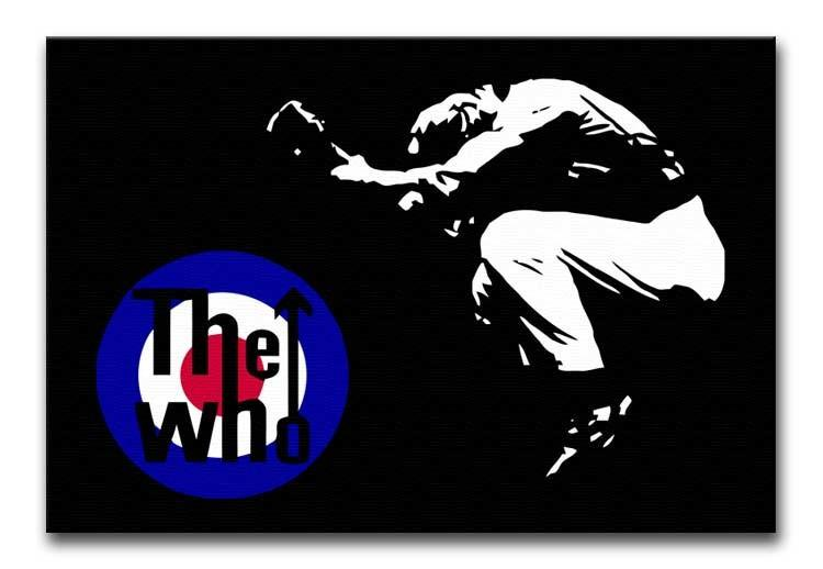 The Who Mod Target Print - Canvas Art Rocks - 1