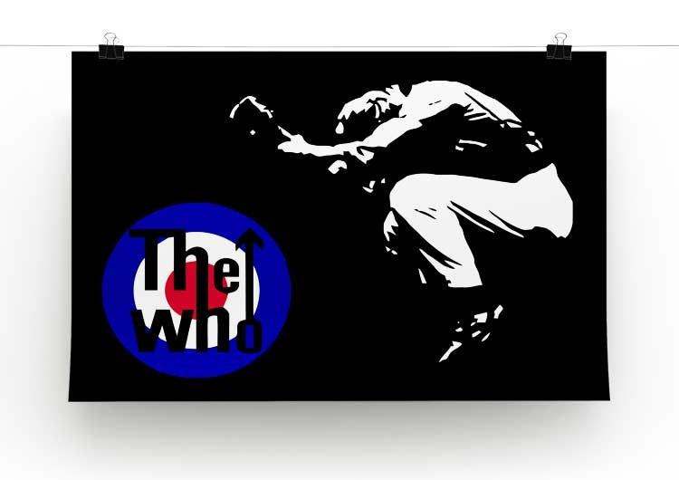 The Who Mod Target Print - Canvas Art Rocks - 2