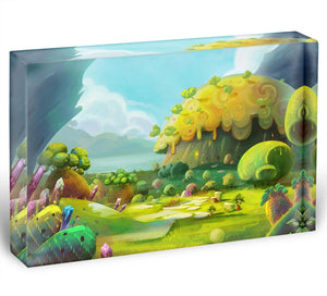 The Adventure of The Tiny Bird Acrylic Block - Canvas Art Rocks - 1