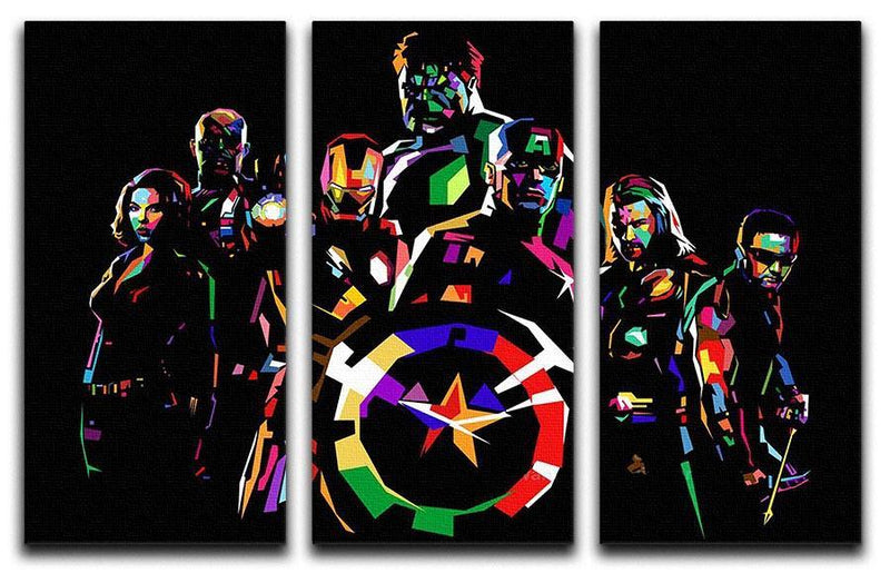 The Avengers Pop Art 3 Split Panel Canvas Print - Canvas Art Rocks - 1