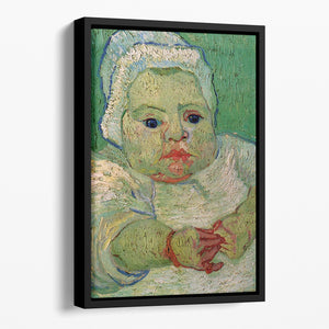 The Baby Marcelle Roulin by Van Gogh Floating Framed Canvas