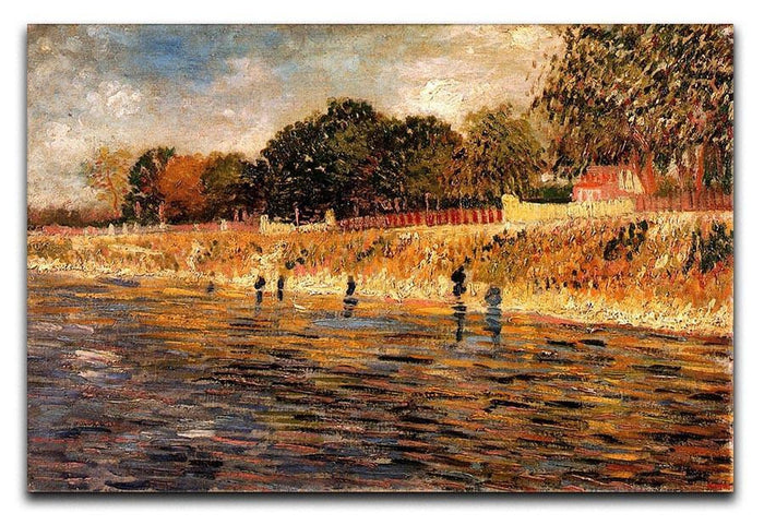 The Banks of the Seine by Van Gogh Canvas Print or Poster