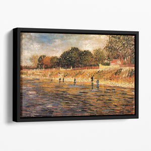 The Banks of the Seine by Van Gogh Floating Framed Canvas