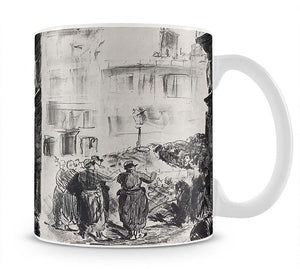 The Barricade by Manet Mug - Canvas Art Rocks - 1