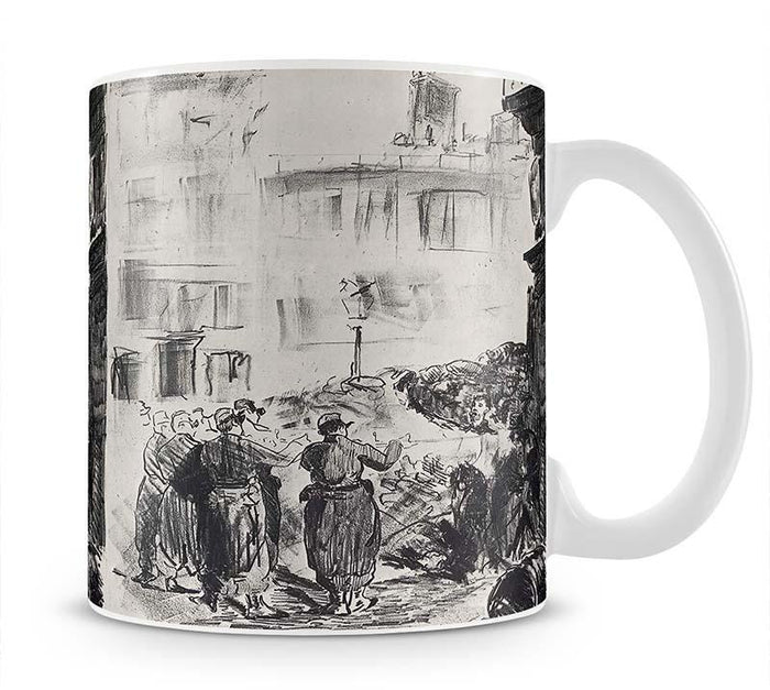 The Barricade by Manet Mug