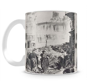 The Barricade by Manet Mug - Canvas Art Rocks - 2