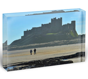 The Beach at Bamburgh Acrylic Block - Canvas Art Rocks - 1