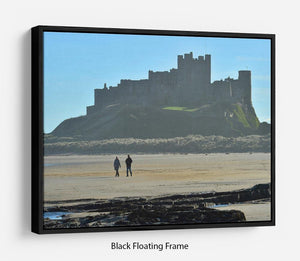 The Beach at Bamburgh Floating Frame Canvas - Canvas Art Rocks - 1