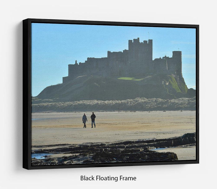 The Beach at Bamburgh Floating Frame Canvas