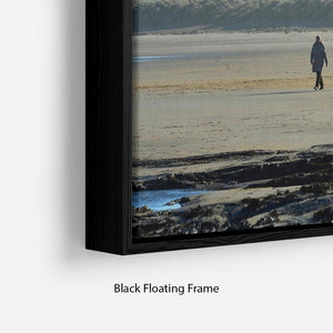 The Beach at Bamburgh Floating Frame Canvas - Canvas Art Rocks - 2