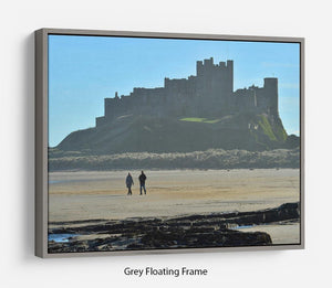 The Beach at Bamburgh Floating Frame Canvas - Canvas Art Rocks - 3