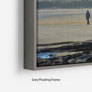 The Beach at Bamburgh Floating Frame Canvas - Canvas Art Rocks - 4