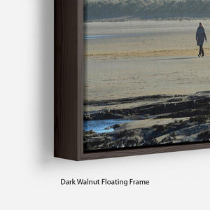 The Beach at Bamburgh Floating Frame Canvas - Canvas Art Rocks - 6