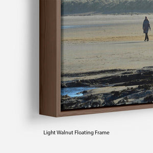 The Beach at Bamburgh Floating Frame Canvas - Canvas Art Rocks - 8
