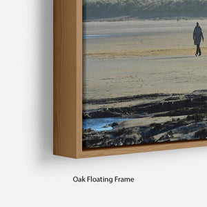 The Beach at Bamburgh Floating Frame Canvas - Canvas Art Rocks - 10