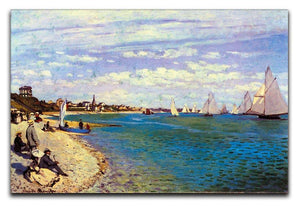 The Beach at Sainte Adresse by Monet Canvas Print & Poster  - Canvas Art Rocks - 1