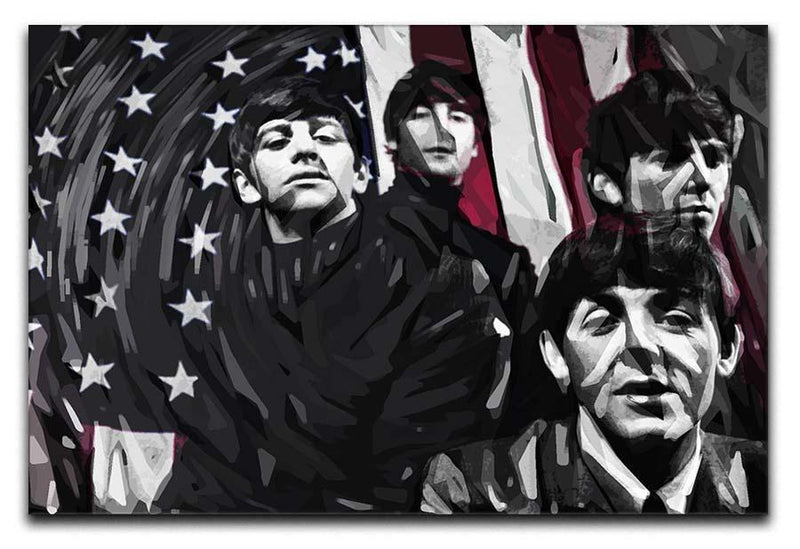 The Beatles USA Flag Canvas Print or Poster  - Canvas Art Rocks - 1
