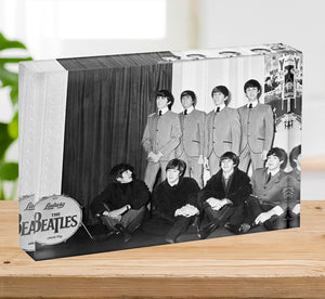 The Beatles at Madame Tussauds Acrylic Block - Canvas Art Rocks - 2