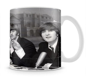 The Beatles at a press conference with their MBEs Mug - Canvas Art Rocks - 1