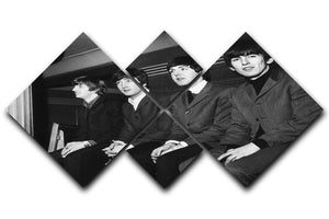 The Beatles backstage in Edinburgh 4 Square Multi Panel Canvas  - Canvas Art Rocks - 1
