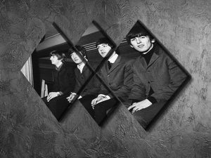 The Beatles backstage in Edinburgh 4 Square Multi Panel Canvas - Canvas Art Rocks - 2