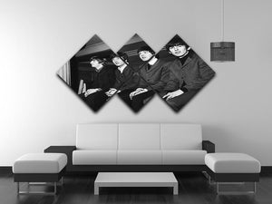 The Beatles backstage in Edinburgh 4 Square Multi Panel Canvas - Canvas Art Rocks - 3