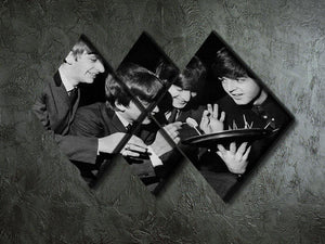 The Beatles before going on stage 4 Square Multi Panel Canvas - Canvas Art Rocks - 2