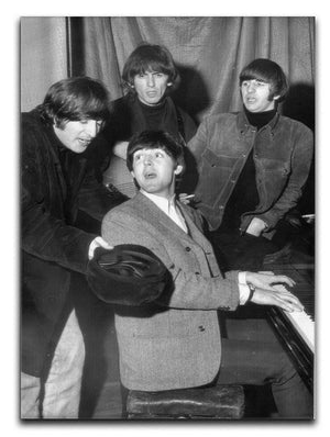 The Beatles gathered round a piano Canvas Print or Poster  - Canvas Art Rocks - 1