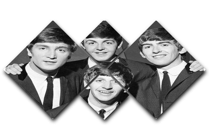 The Beatles in 1963 4 Square Multi Panel Canvas