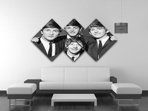 The Beatles in 1963 4 Square Multi Panel Canvas - Canvas Art Rocks - 3
