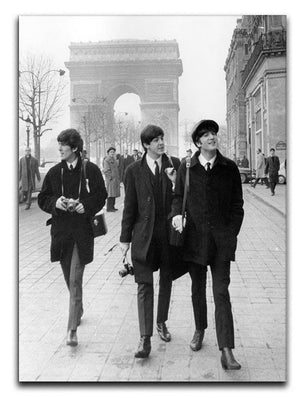 The Beatles in Paris Canvas Print or Poster  - Canvas Art Rocks - 1