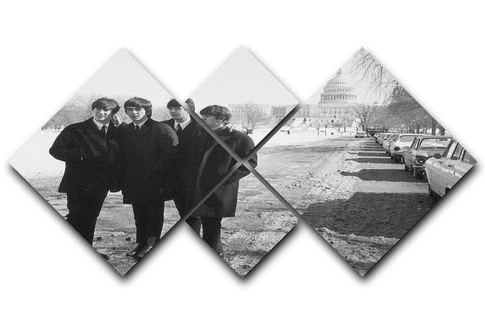 The Beatles in Washington 4 Square Multi Panel Canvas