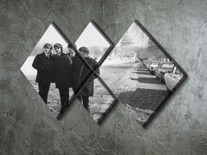 The Beatles in Washington 4 Square Multi Panel Canvas - Canvas Art Rocks - 2