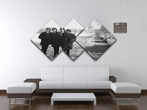 The Beatles in Washington 4 Square Multi Panel Canvas - Canvas Art Rocks - 3