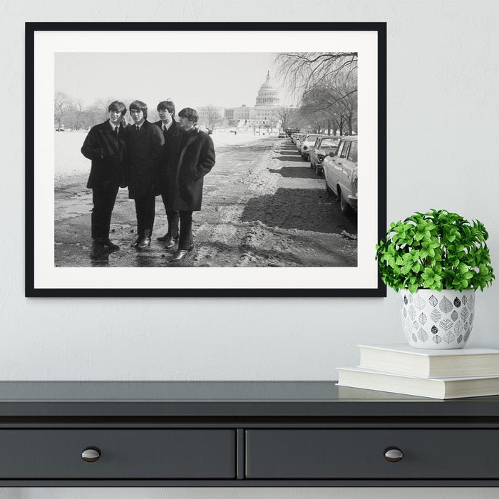 The Beatles in Washington Framed Print