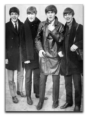 The Beatles in overcoats in 1963 Canvas Print or Poster  - Canvas Art Rocks - 1