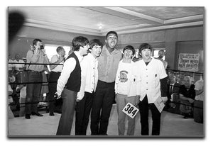 The Beatles meet Muhammad Ali Canvas Print or Poster  - Canvas Art Rocks - 1