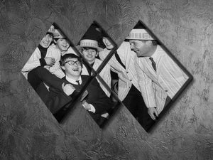 The Beatles with Morecambe and Wise 4 Square Multi Panel Canvas - Canvas Art Rocks - 2