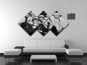 The Beatles with Morecambe and Wise 4 Square Multi Panel Canvas - Canvas Art Rocks - 3