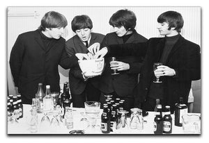 The Beatles with bottles of beer Canvas Print or Poster  - Canvas Art Rocks - 1