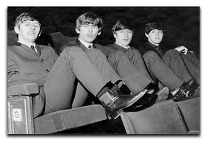 The Beatles with feet up in 1963 Canvas Print or Poster  - Canvas Art Rocks - 1