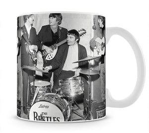 The Beatles with guest drummer Jimmy Nicol Mug - Canvas Art Rocks - 1