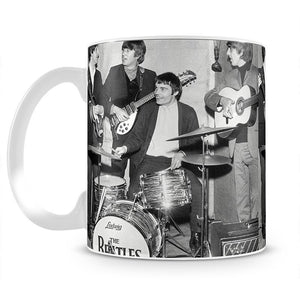 The Beatles with guest drummer Jimmy Nicol Mug - Canvas Art Rocks - 2
