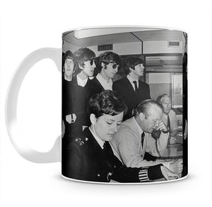The Beatles with police at London Airport Mug - Canvas Art Rocks - 2