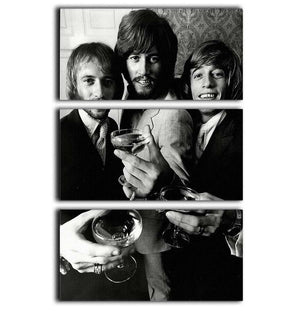 The Bee Gees 3 Split Panel Canvas Print - Canvas Art Rocks - 1