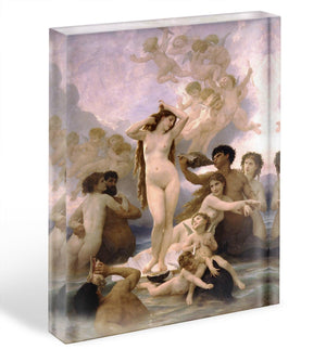 The Birth of Venus By Bouguereau Acrylic Block - Canvas Art Rocks - 1